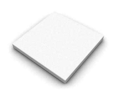 UMĚLÝ PÍSKOVEC - bílý / dlažba - čtverec